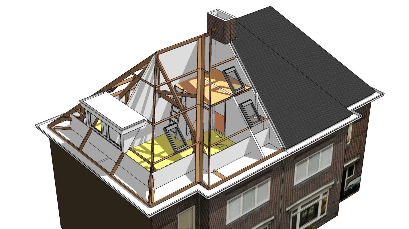 Het ontwerp transformeert de donkere zolder tot twee sfeervolle kinderkamers met veel daglicht - Zolder ontwikkeling ...